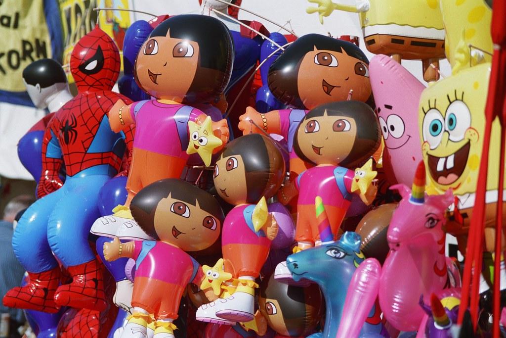 Dora Spongebob And Spiderman Balloons The Oregon State F