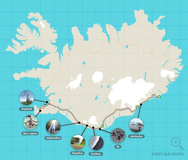 Ruta por Islandia para ver Auroras Boreales
