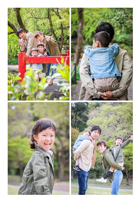 プロカメラマンが森林公園(愛知県尾張旭市)で家族写真をロケーション撮影 自然でおしゃれ カジュアルな服装