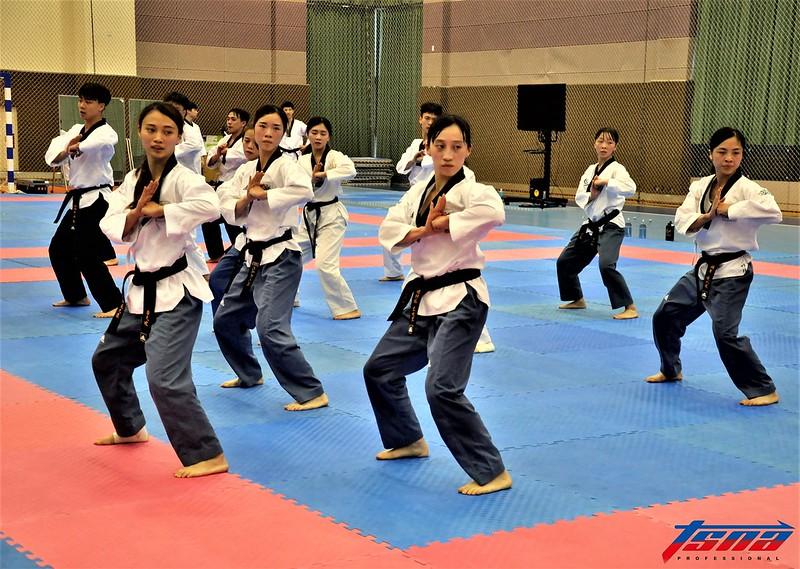 跆拳道代表隊正積極備戰亞錦賽。(張哲郢/攝)