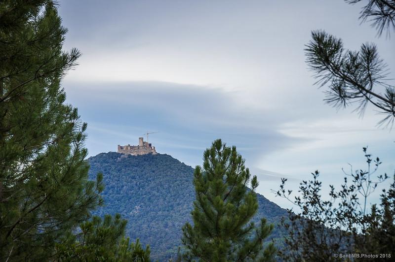 El castillo de Montsoriu desde el Bosc de les Agudes