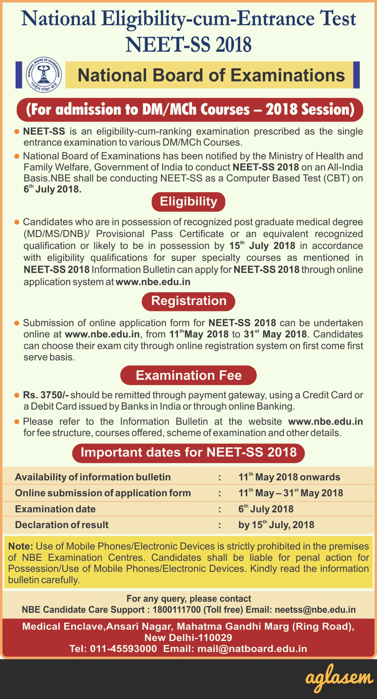 NEET SS 2018: Exam Date, Application Form, Changes, Admit Card, Result
