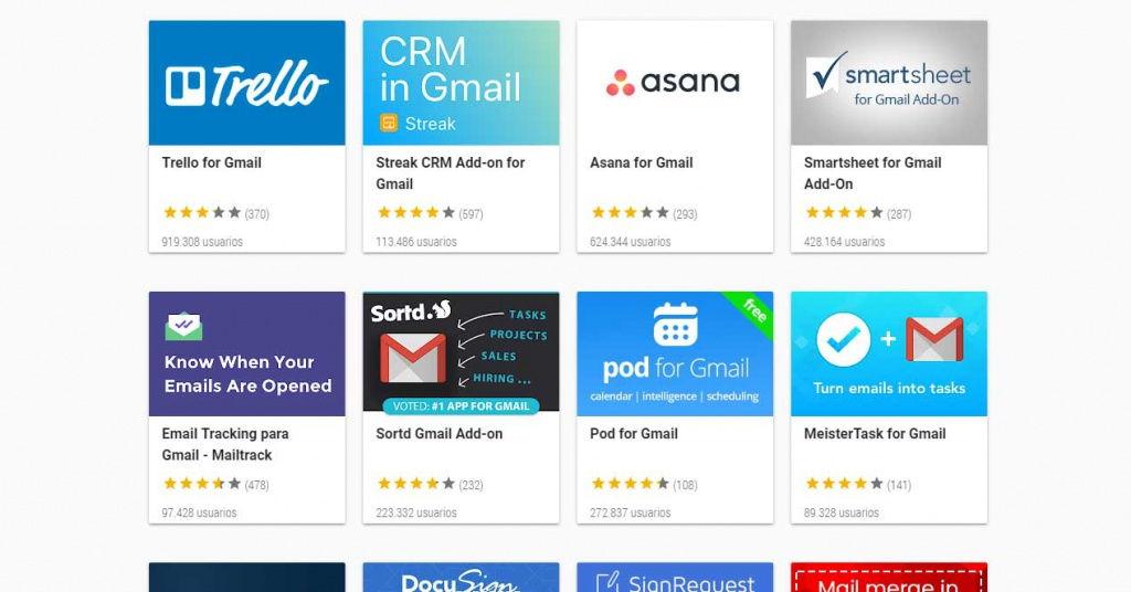 Cómo instalar complementos en Gmail