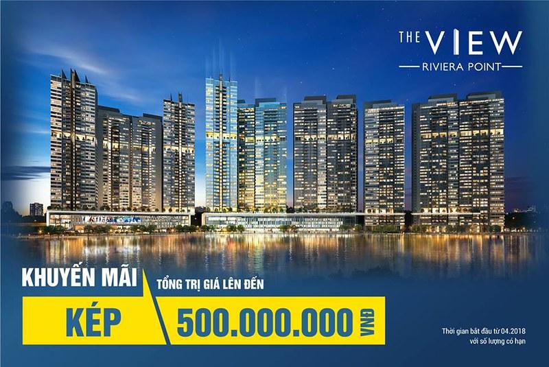 Chương trình ưu đãi kép tháng 5/2018 khi mua căn hộ The View tại Riviera point với số lượng có hạn.