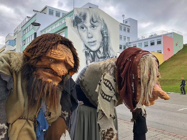 Trolls en Akureyri (Norte de Islandia)