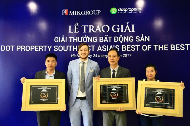 MIKGroup được vinh danh là đơn vị phát triển BĐS sáng tạo nhất Đông Nam Á 1