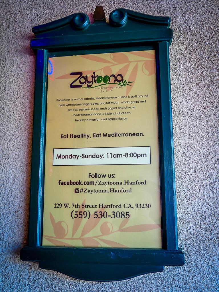 The One about Zaytoona Mediterranean Cuisine in Hanford, California