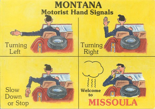 MONTANA Motorist Hand Signals | by dave_mcmt