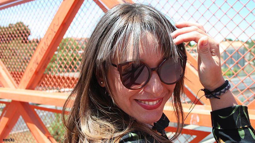 gafas de sol redondas marrones