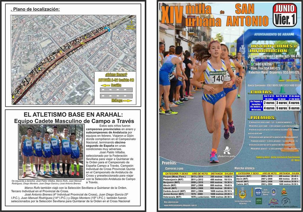 AionSur 41573870444_55f17e490f_b_d Cuenta atrás para una nueva edición de la XIV Milla de San Antonio Atletismo Deportes