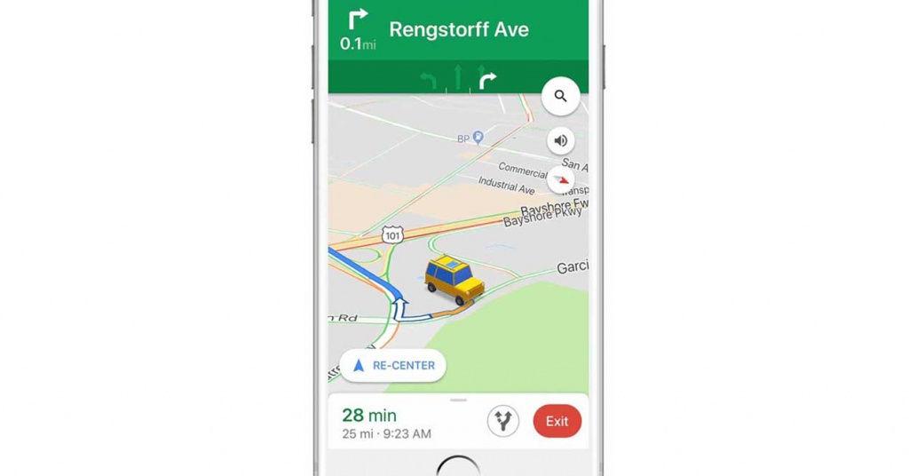 Google Maps cambia la flecha de navegación por iconos de coches