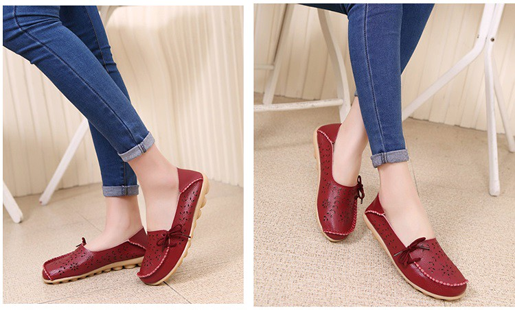 b708c580886 ... New Arrival Women Flats Shoes Women loafers Ladies Slip on Flats 9  color Genuine Leather Driving