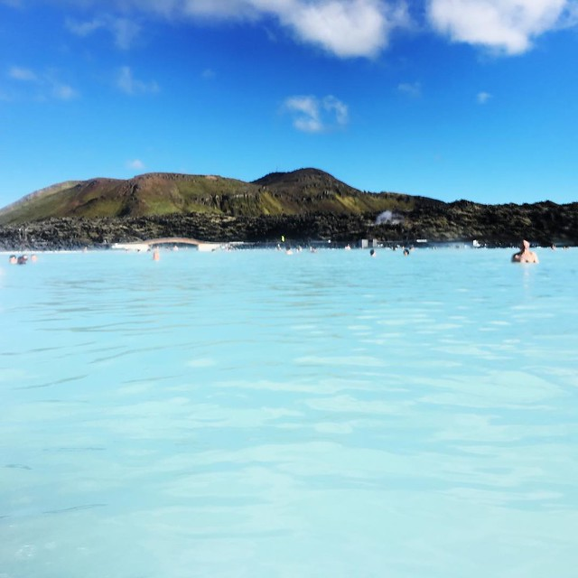 Views inside the Blue Lagoon, Iceland