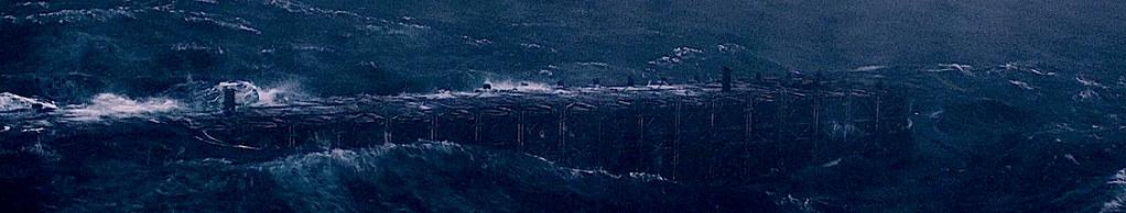 Ноев Ковчег в бушующем океане гнева Божия.