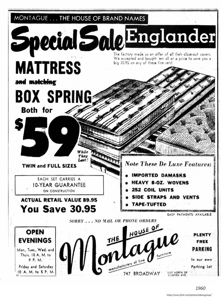 ... Montague Furniture 747 Broadway 1960   By Albany Group Archive