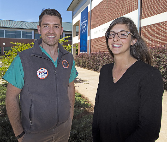 Auburn veterinary students Jonathan Tubbs and Sofia Castello