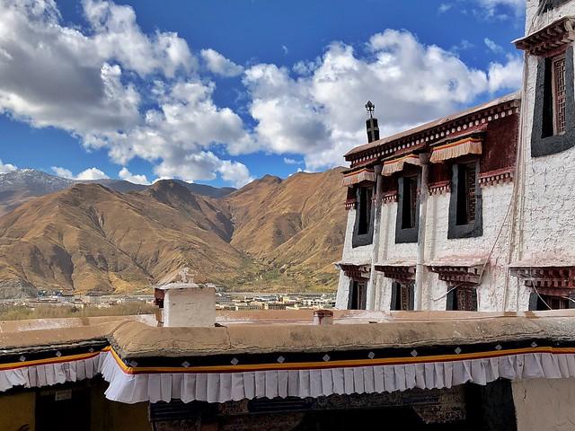 Detalle del Palacio de Potala (Lhasa, Tíbet)