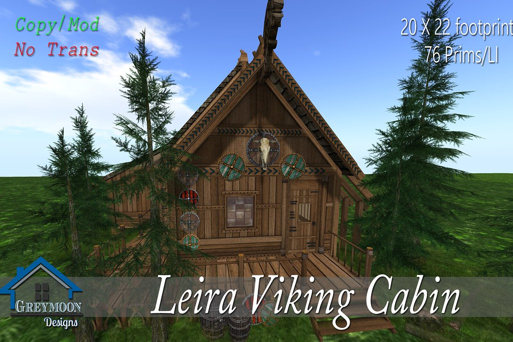 ... Leira Viking Cabin MAIN | By Greymoon Designs