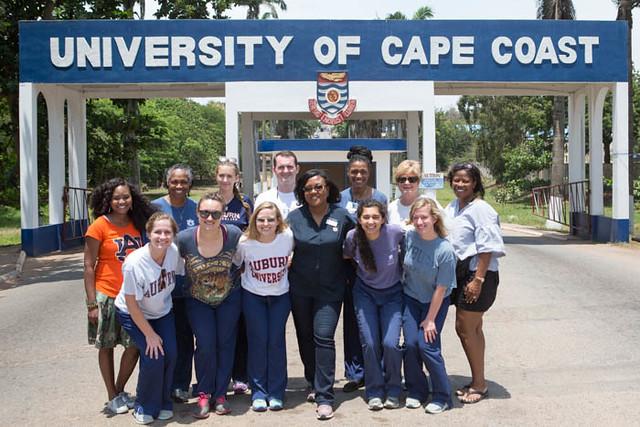 The Auburn University team at the University of Cape Coast