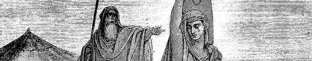 Агарь изгоняется Авраамом.