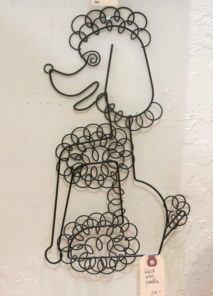 Wire Poodle Wall Art at Antiques Colony in San Jose   Flickr