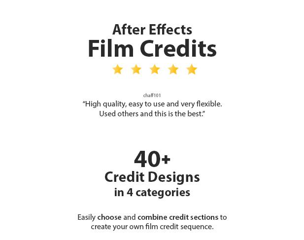Videohive Cinema Film Credits Pack