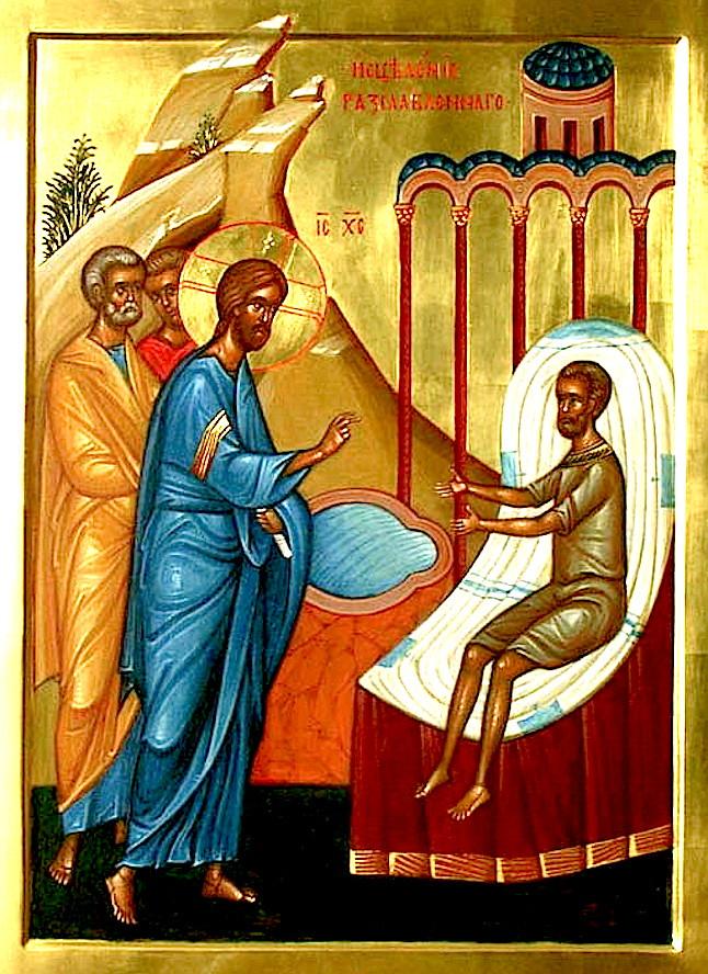 Икона Недели (Воскресения) 4-й по Пасхе, о расслабленном.