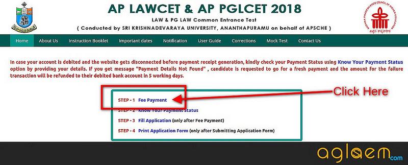 AP PGLCET 2019 Application form