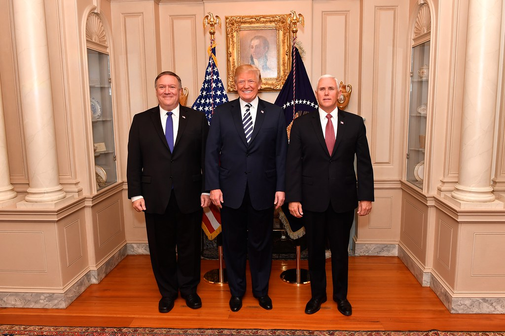 Image result for photos of trump pence pompeo