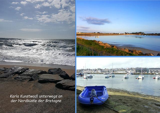 Karla Kunstwadl unterwegs in der Bretagne ... die bretonische Nordküste ... Rothéneuf ... les Rochers Sculptés ... Foto(s): Margit H