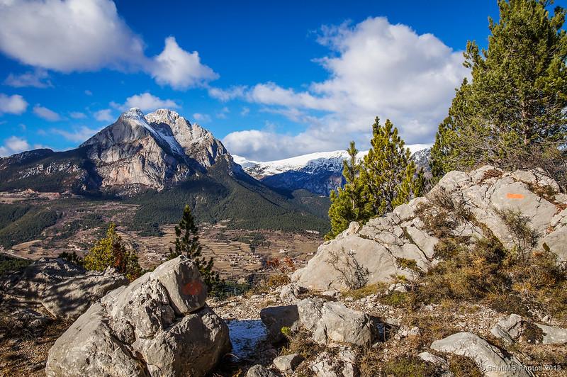 El Pedraforca desde algo más arriba del mirador de Els Graus