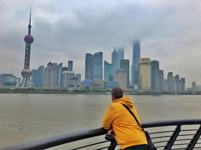 Sele en el Bund de Shanghái