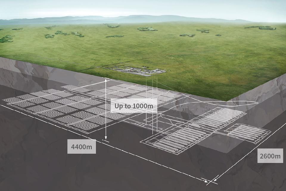 英國核廢料地下貯存場(GDF)示意圖。圖片來源:英國政府