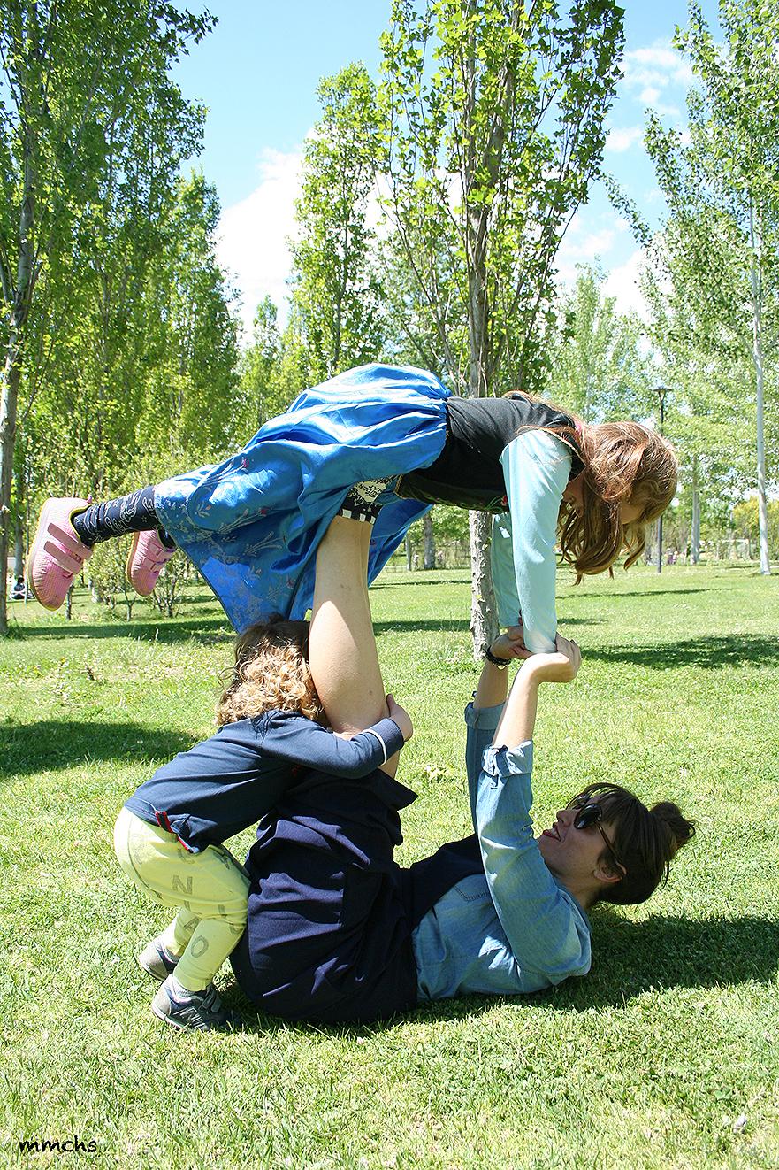 jugando con niños