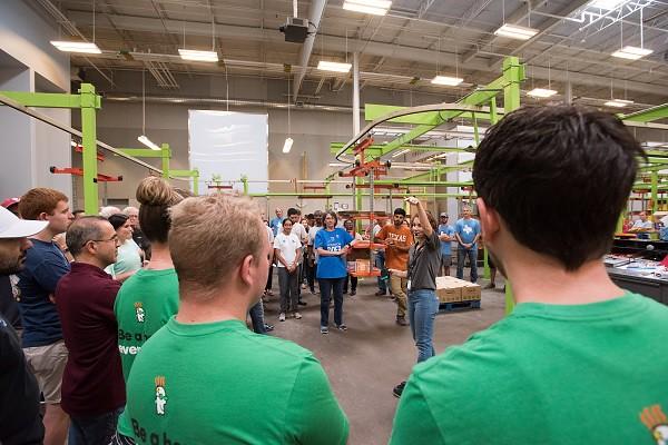 People inside a warehouse