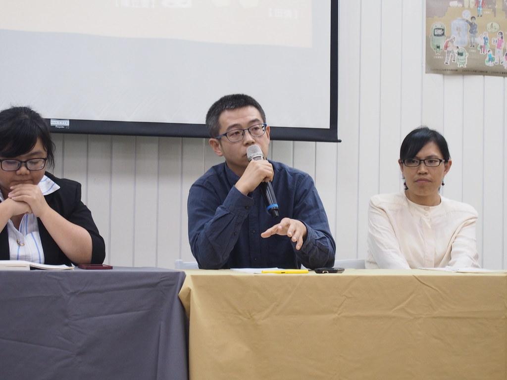 毛達在4月22日於中國綠色人物臉譜論壇分享自身垃圾追蹤經驗。攝影:陳宣竹