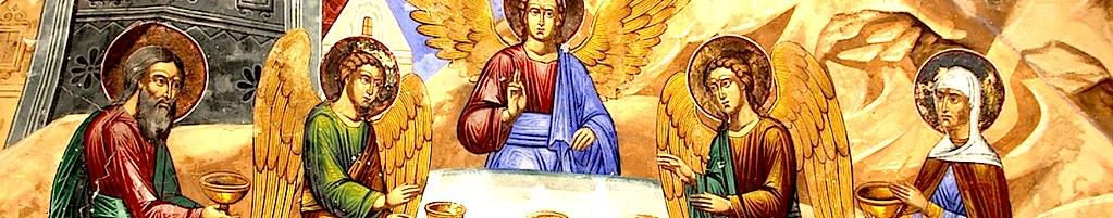 Троица посещает Авраама.