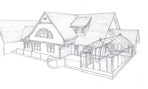 My house drawing back side i have new photos but i for My dream house drawing