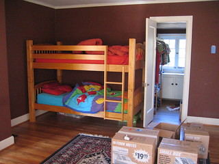 "Bedroom ""Before"" on move-in day 