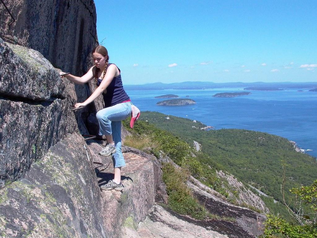 Precipice Trail Climbing Champlain Mountain On The