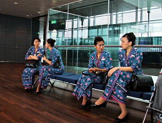 Malay air flight attendants | by JanneM