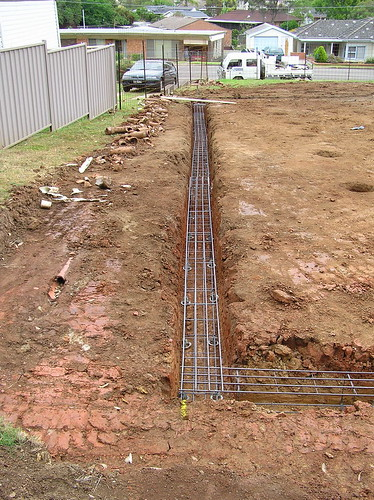 Eastern strip footing steel steel reinforcement was placed flickr - Houses with no footing going modern ...