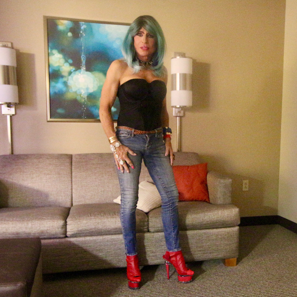Cortney In Chicago With New Mint Mermaid Wig Black Bu
