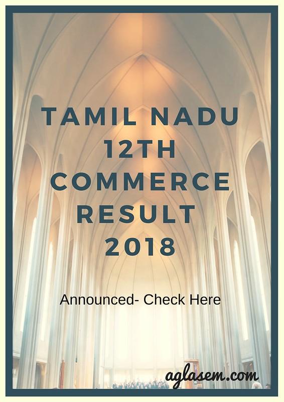 Tamil Nadu 12th Commerce Result 2018