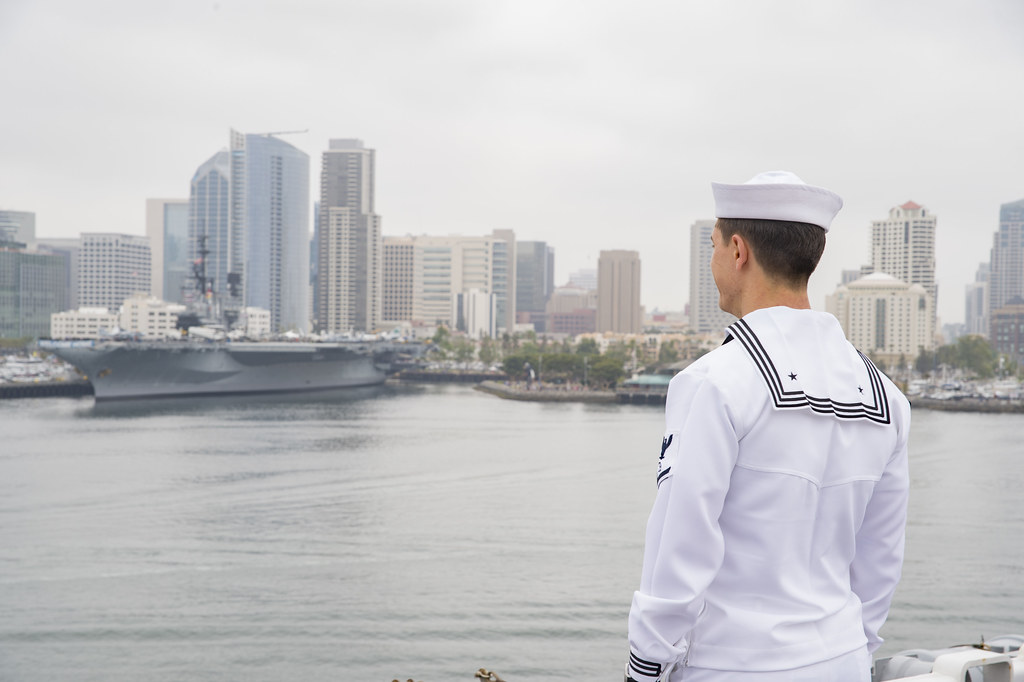 SAN DIEGO – The amphibious assault ship USS Bonhomme Richard (LHD 6) arrived in San Diego, concluding the ship's homeport change, May 8.