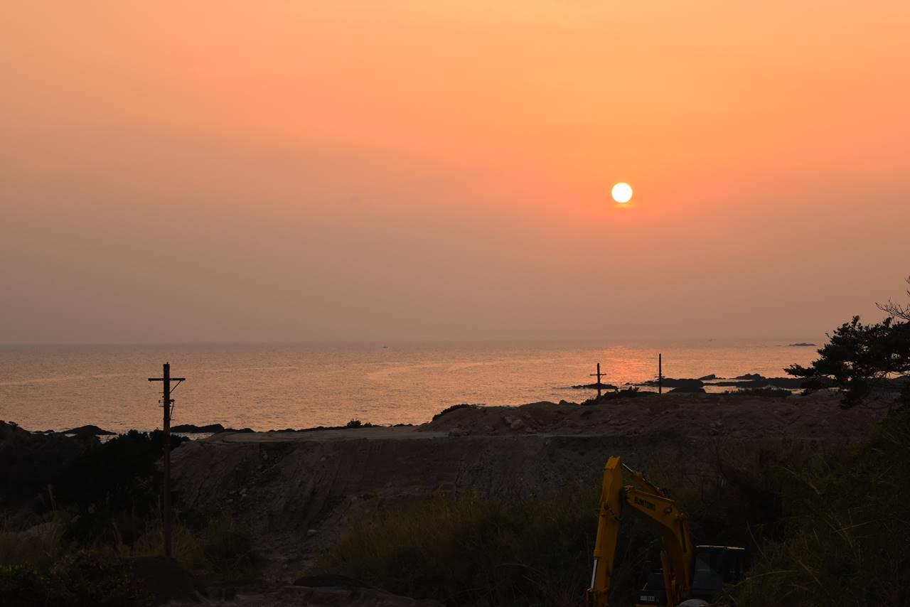 屋久島の旅 海からの朝日