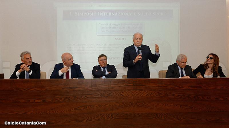 Da sinistra i relatori Gravina, Jacobelli, Lo Monaco, Fabbricini, Cataldi e Reitano