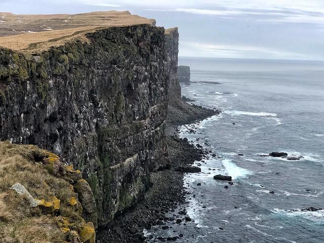 Acantilados de Látrabjarg en los fiordos del oeste, un lugar excepcional para ver frailecillos