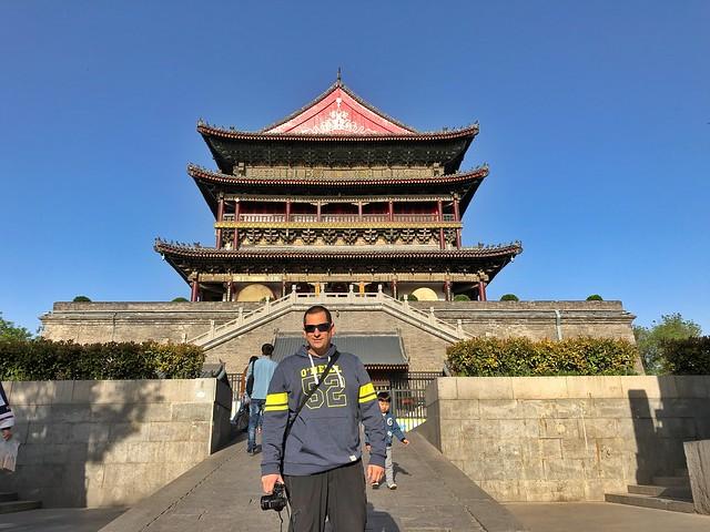 Sele en la torre del tambor en Xi'an (China)