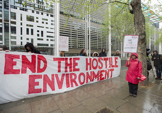 Hostile Environment protest | by Global Justice Now